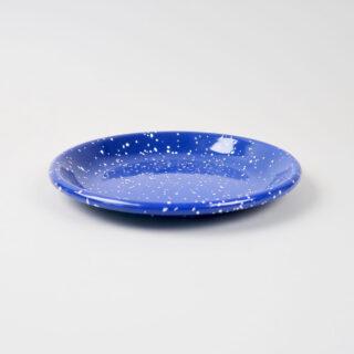 Enamel Deep Plate - Medium - Speckle Blue