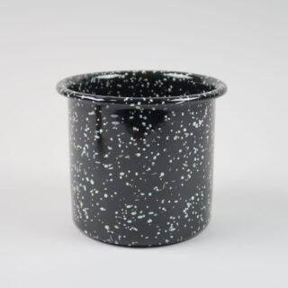 Enamel Herb Pot - Sprinkle Black