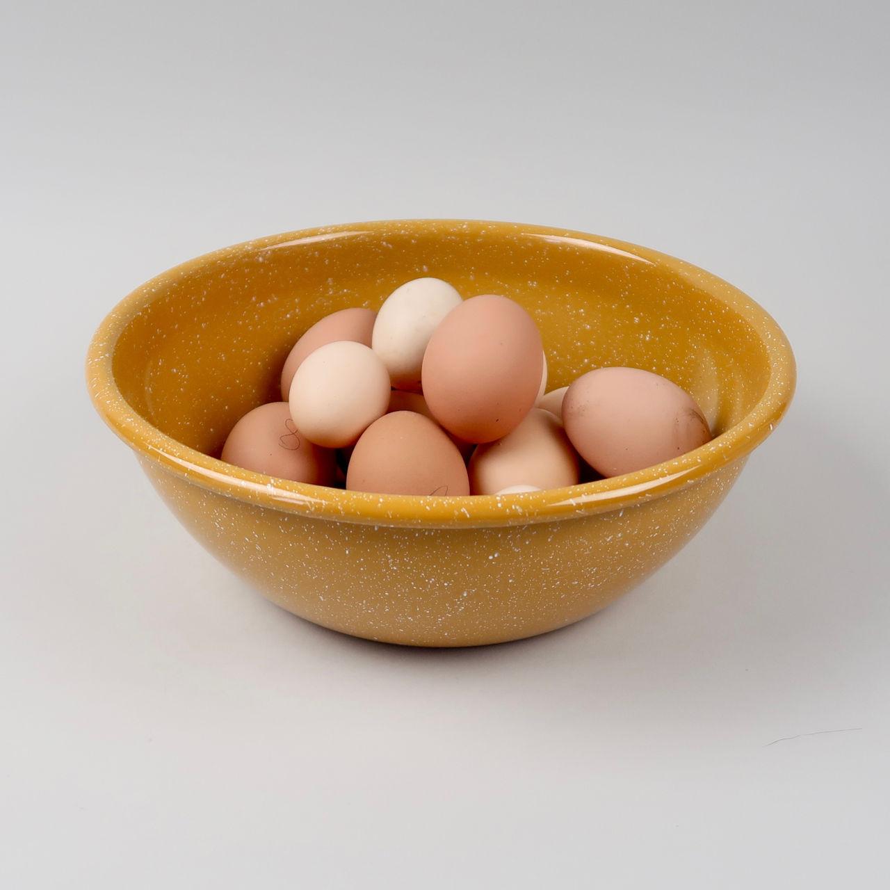 Enamel Salad Bowl - Dust Mustard