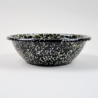 Enamel Serving Bowl - Sprinkle Black
