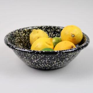 Enamel Serving Bowl - Sprinkle Black