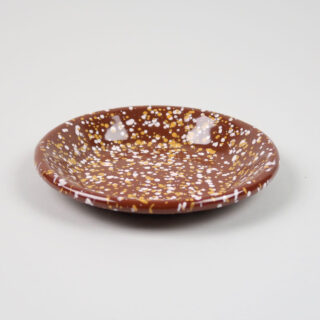 Enamel Dish - Sprinkle Brown