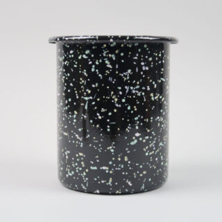 Enamel Utensil Holder - Sprinkle Black