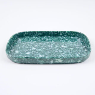 Fleck Tray - Marbled Green