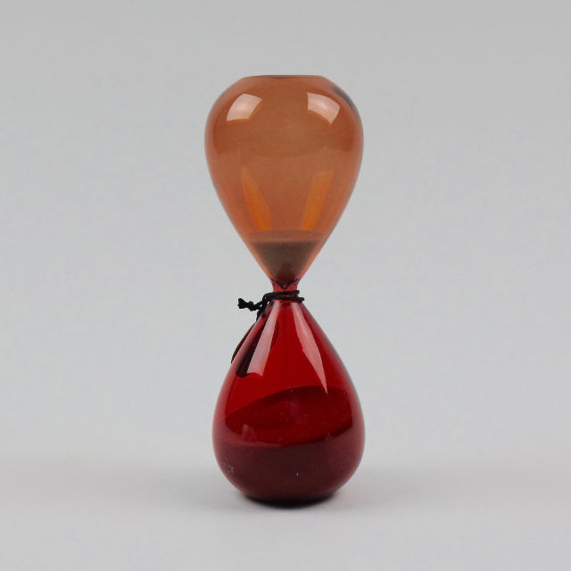 glass sand timer by hay medium black bough ludlow