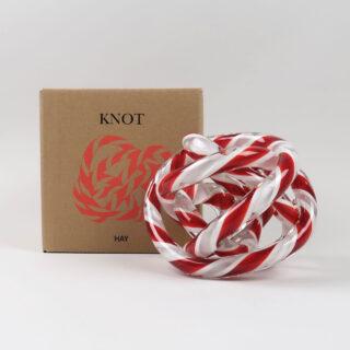 Knot - Red & White - Medium