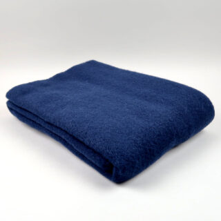Mono Wool Blanket - Midnight Blue