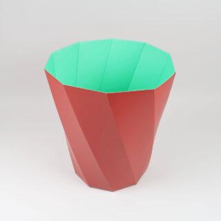 Paper Paper Bin - Dark Red