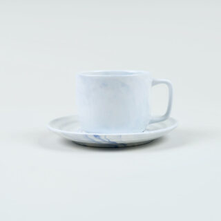Twist Cup & Saucer - Blue - Small