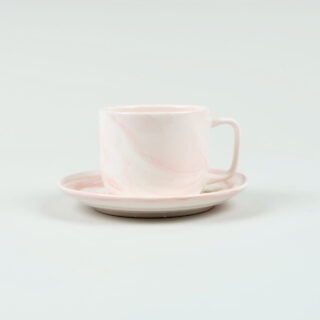 Twist Cup & Saucer - Pink - Small