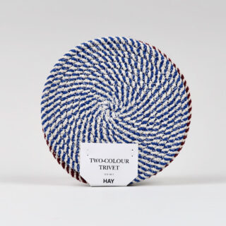 Pair of Woven Trivets - Red & Blue - S