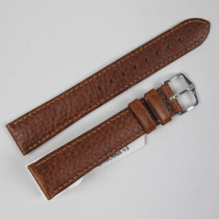 Hirsch 'Forest' calf leather watch straps with lightly textured finish
