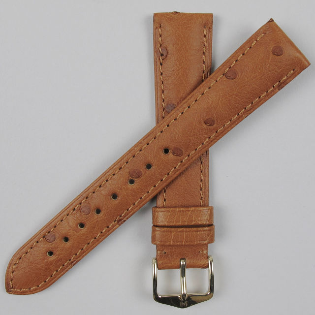 Hirsch Massai Ostrich leather wristwatch strap