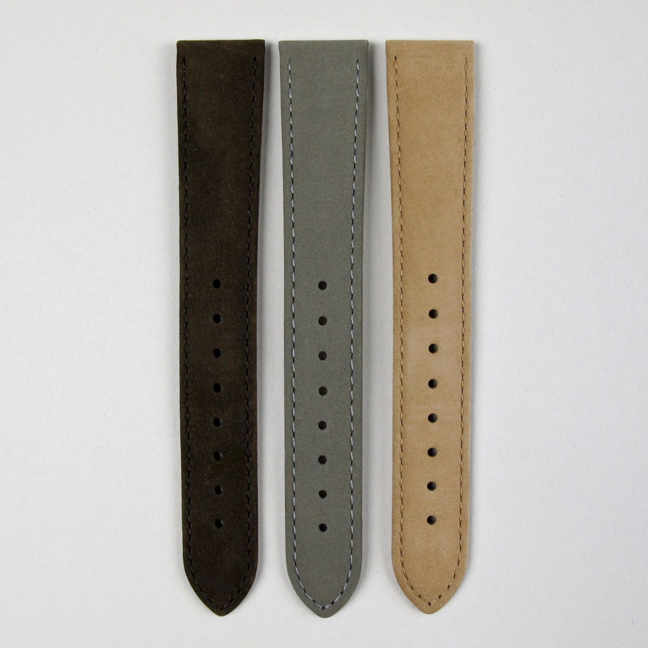 Hirsch Osiris suede finished leather straps