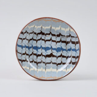 Feather Trail Slipware Terracotta Dish