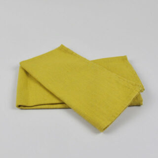 Indian Yellow 100% Linen Napkin - handmade in Ludlow