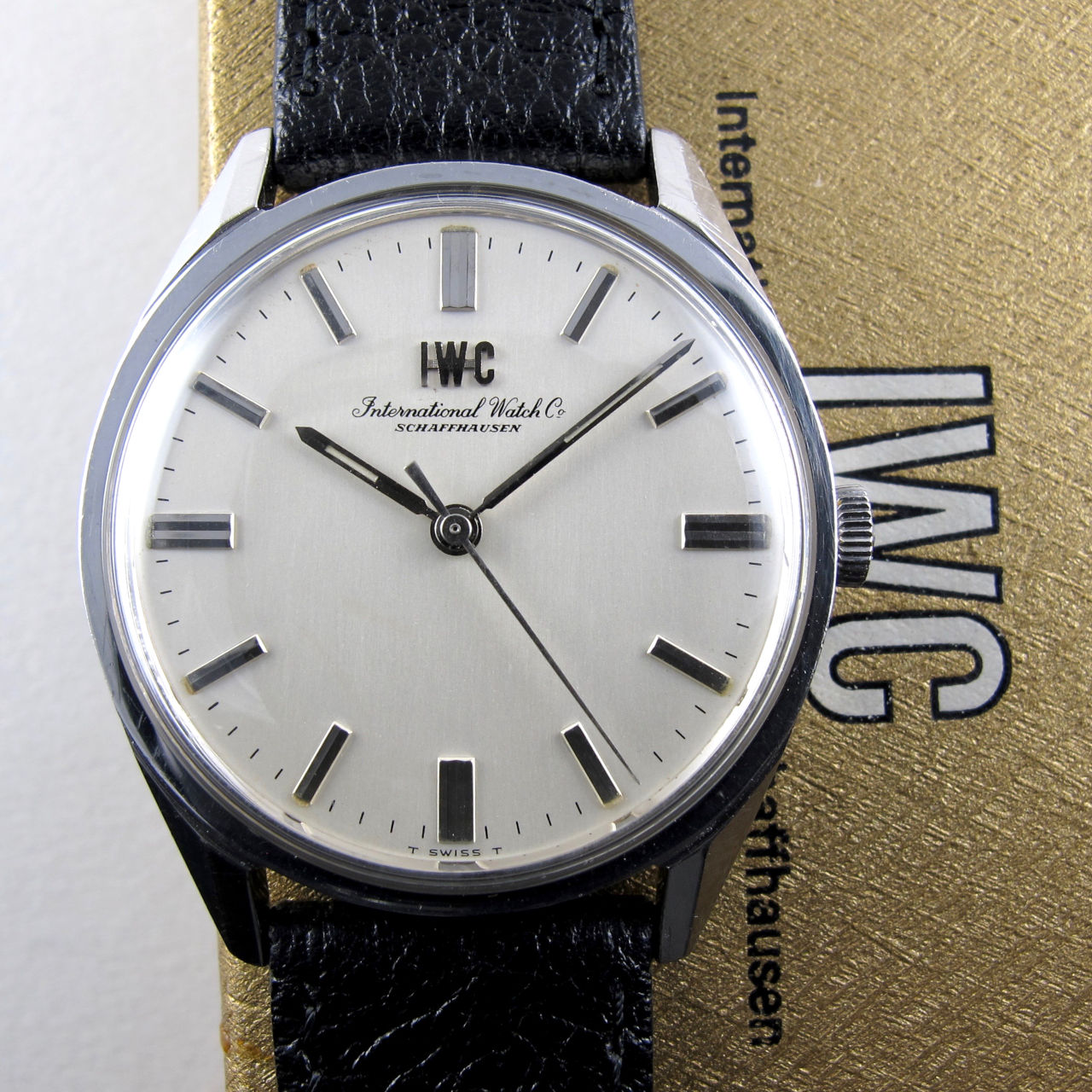 International Watch Company Ref. R810 steel vintage wristwatch, circa 1966