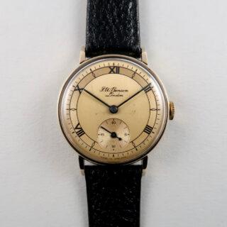 J. W. Benson/Smiths Ref. A.503 gold vintage wristwatch, hallmarked 1955