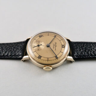 Smiths Ref. A503 retailed by J. W. Benson gold vintage wristwatch, hallmarked 1955