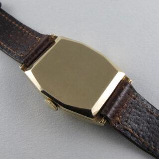 J. W. Benson, London gold vintage wristwatch, hallmarked 1946