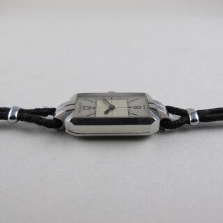 Jaeger-LeCoultre cal. 404 lady's steel vintage wristwatch, circa 1937