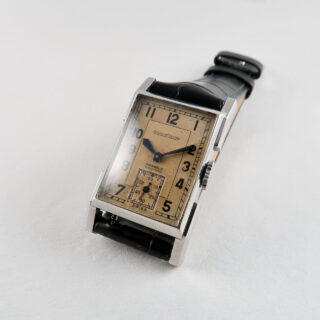 Jaeger-LeCoultre Cal. 410 retailed by Parkhouse Southampton circa 1937   steel manual vintage wristwatch