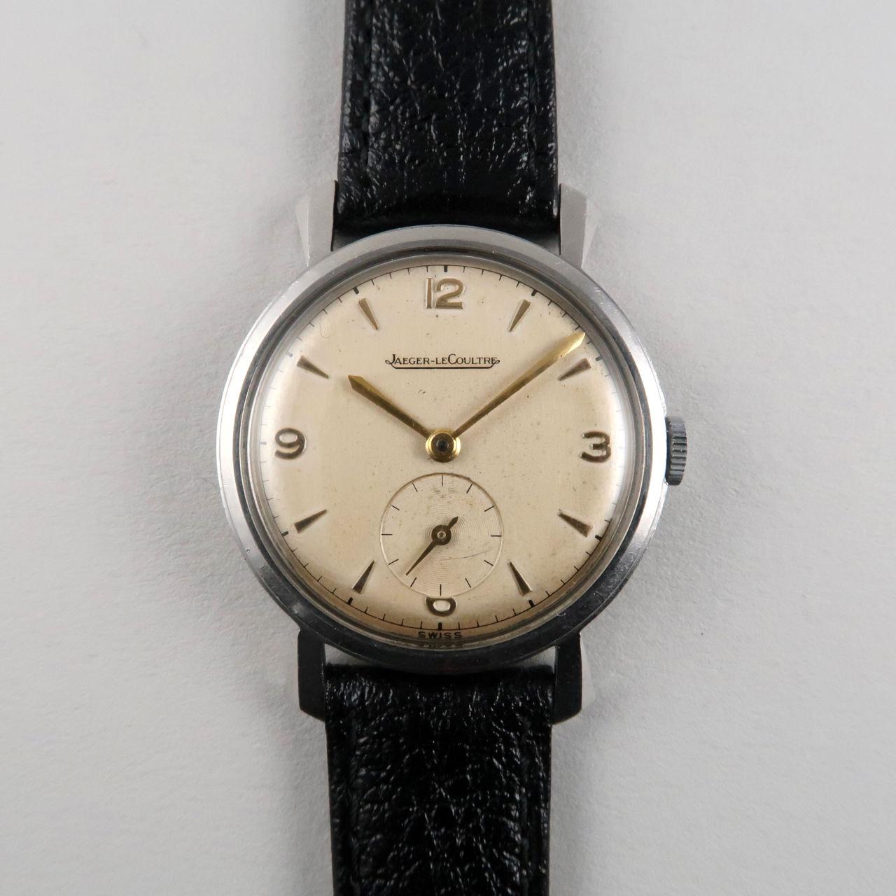 Jaeger-LeCoultre cal.P480 steel vintage wristwatch, circa 1954