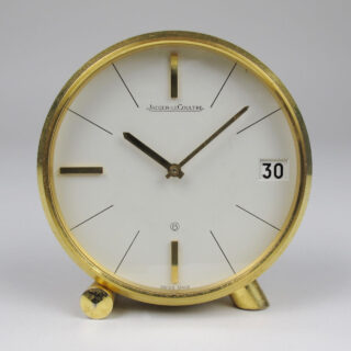 Jaeger LeCoultre gilt brass vintage desk clock Ref.425, circa 1960