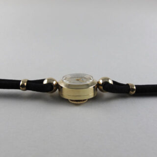 Jaeger-LeCoultre gold lady's vintage wristwatch, hallmarked 1958