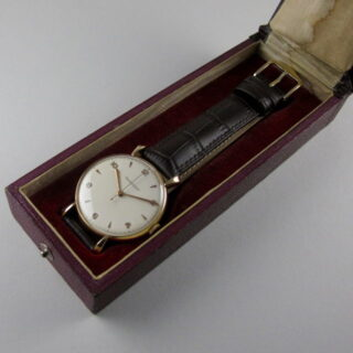 Gold Jaeger-LeCoultre vintage wristwatch, hallmarked 1953