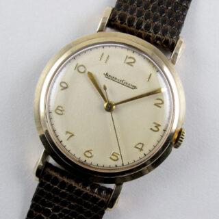 Jaeger-LeCoultre gold vintage wristwatch, hallmarked 1954
