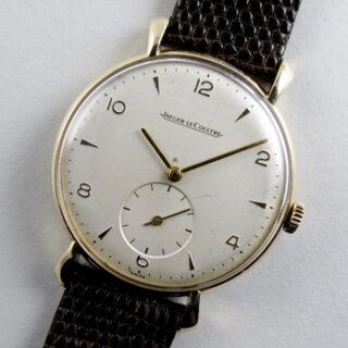 Jaeger-LeCoultre gold vintage wristwatch, hallmarked 1958