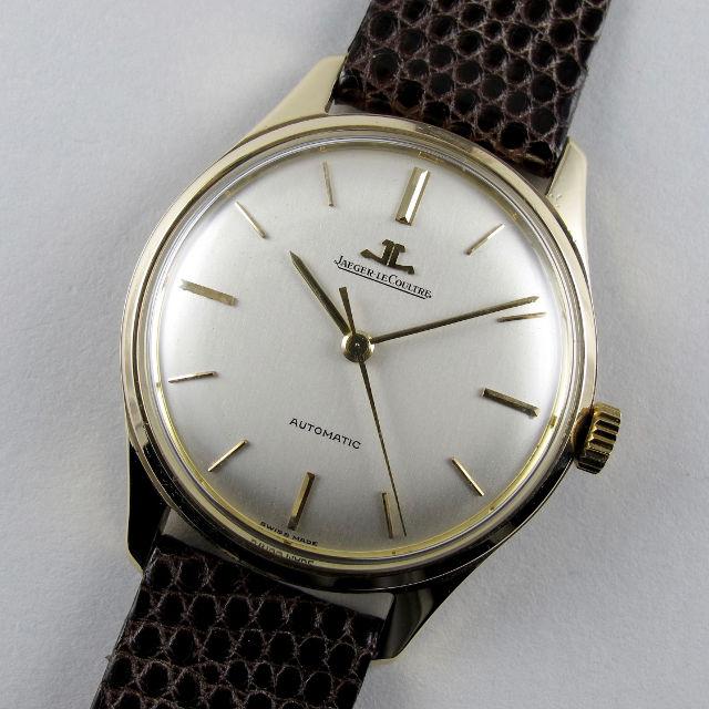 Jaeger-LeCoultre Ref. E385 gold vintage wristwatch, hallmarked 1960