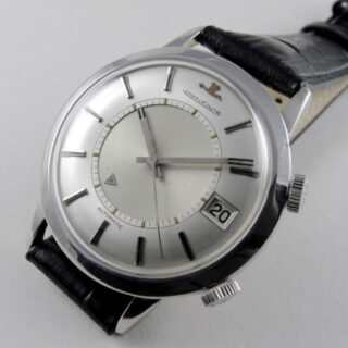 Jaeger-LeCoultre Memovox Ref. 855 steel vintage wristwatch, circa 1967
