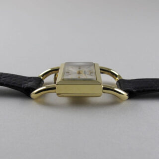 Jaeger-LeCoultre Ref. 1670 gold vintage lady's wristwatch, hallmarked 1979