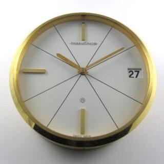 Gilt Brass Jaeger-LeCoultre Ref. 383 vintage desk clock, circa 1960