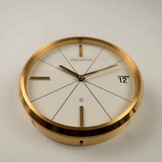 Jaeger-LeCoultre Ref. 383 circa 1960 | gilt brass manual vintage desk clock