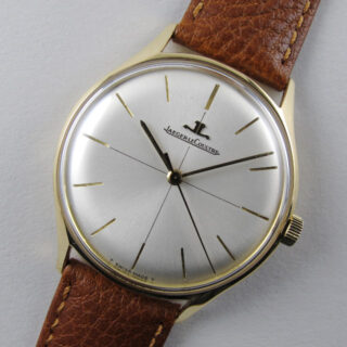 Gold Jaeger-LeCoultre Ref. E284 vintage wristwatch, hallmarked 1970