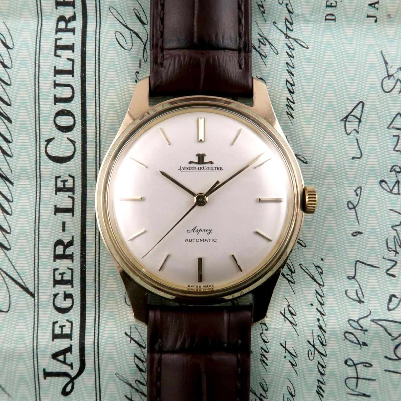 Jaeger-LeCoultre retailed by Asprey Ref. E385 gold vintage wristwatch, sold in 1964