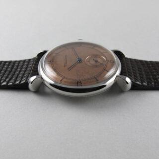 Jaeger-LeCoultre steel vintage wristwatch, circa 1947