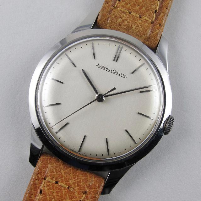 Steel Jaeger-LeCoultre vintage wristwatch, circa 1957