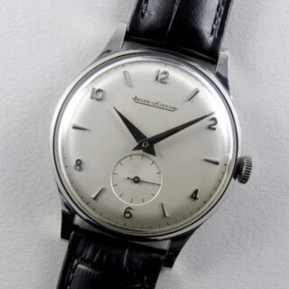 Jaeger-LeCoultre steel vintage wristwatch, circa 1959