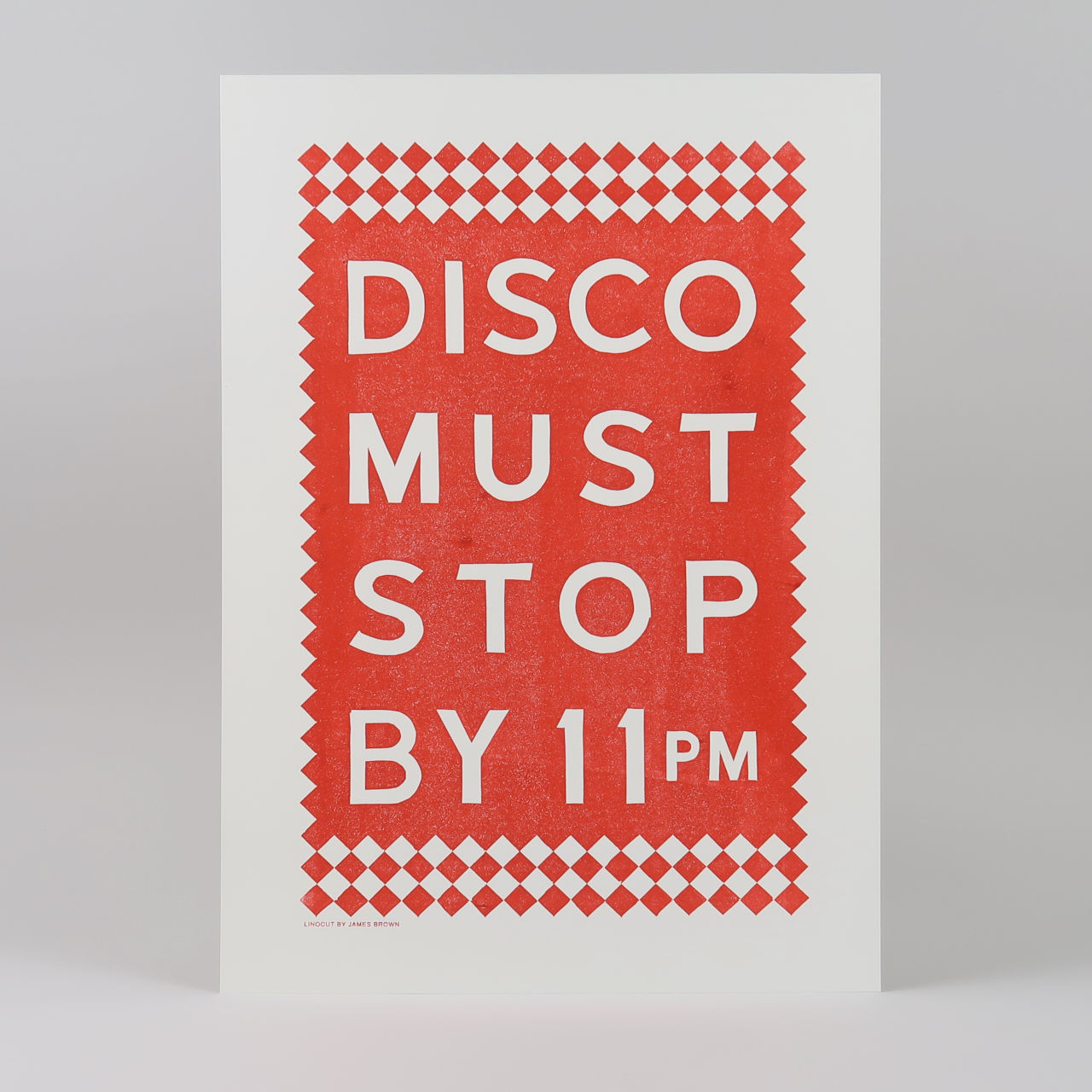 Disco Linoprint by James Brown