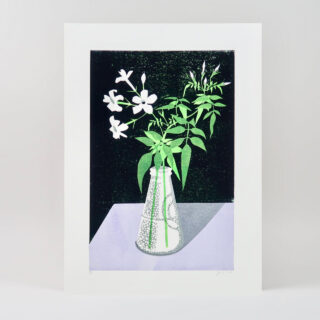 Jasmine Lino Print by James Brown