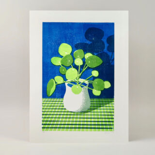 Pilea Lino Print by James Brown