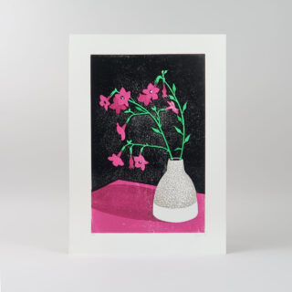 Nicotiana Lino Print by James Brown