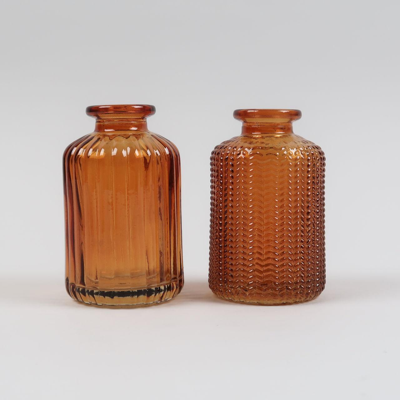 Jazz Bottle Vase - Amber