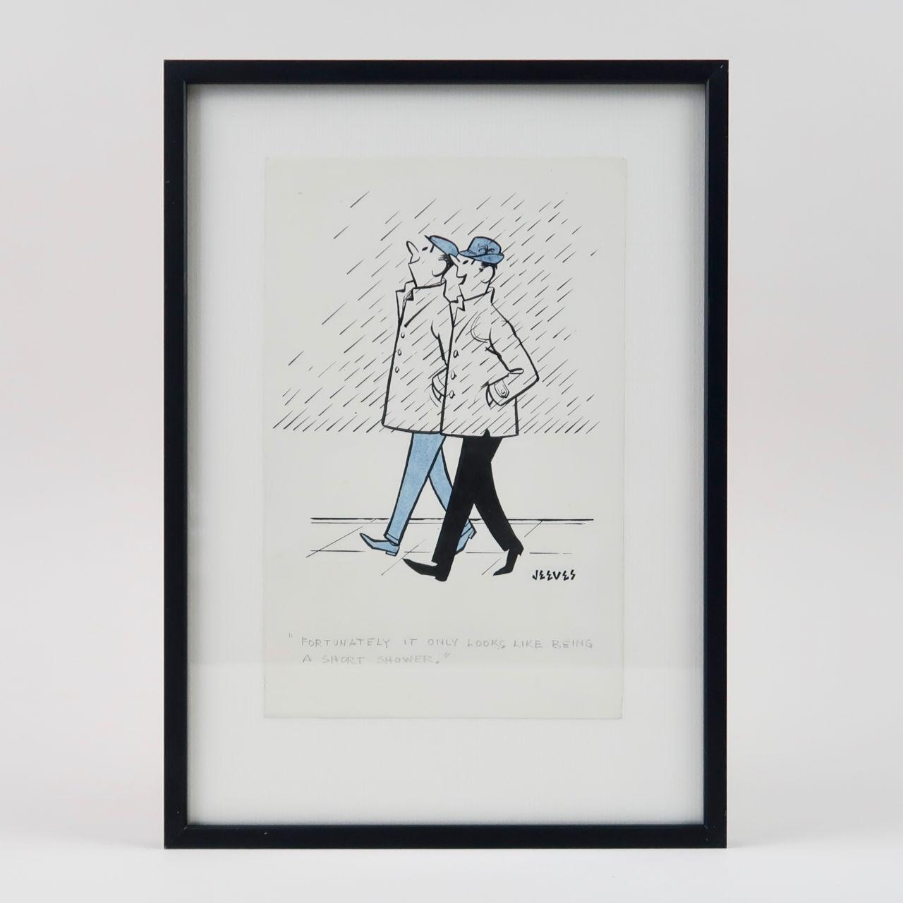 Framed Jeeves Cartoon - Short Shower