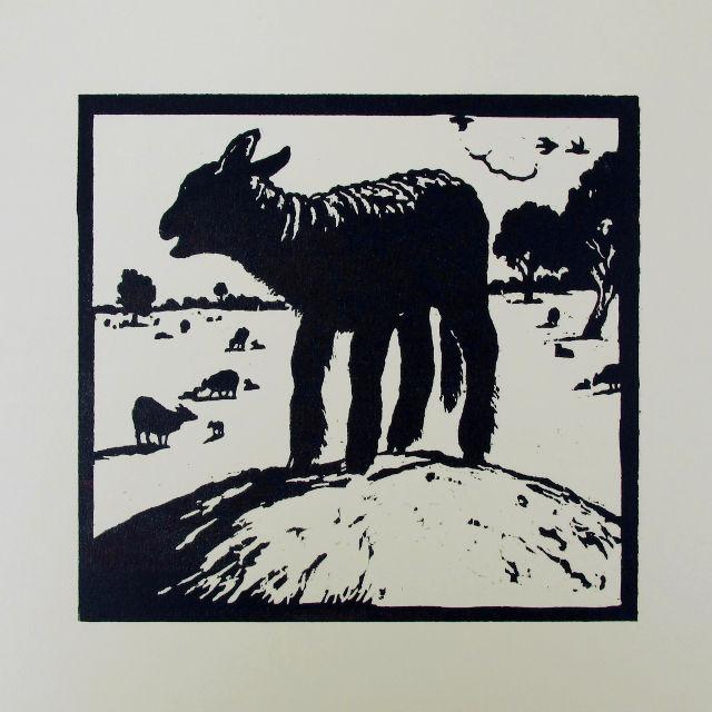 Woodcut by Jonathan Heale - 'Lost'