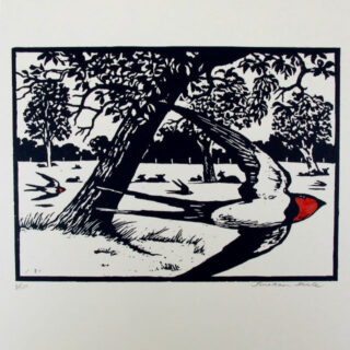 jonathan heale swallows and lambs (1) woodcut 01